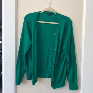 Lands end Kelly green sweater
